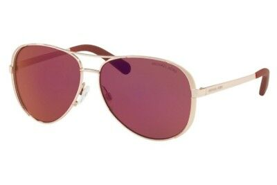 NWT Michael Kors Sunglasses MK 5004 1017D0 Rose Gold Tone/ Burgundy Mirror 59 mm