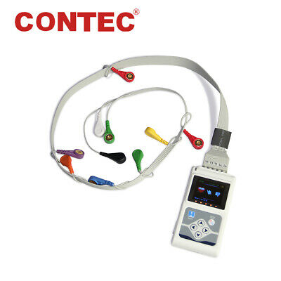 CONTEC TLC5000 ECG Holter 12 Channel 24h EKG Monitor PC Software Analyzer FDA&CE
