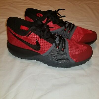 3f988d3cae73 Nike Zoom Assersion Men s Basketball Shoes 917505-600 Red Black Grey Size 12
