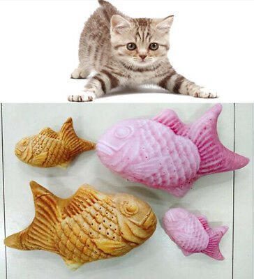 Japan Pet Cat Fish Shape Snapper Toy Kitten Play Chewing Rattle Scratch Mint Toy