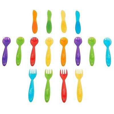 Babies R Us Cutlery 16 Pack with Easy To Grip Handles, Made of BPA-free Plastic