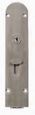 Flush Bolt with Key Locking Curved - Timber Door