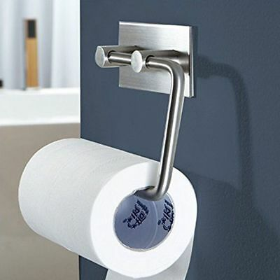 AU Stainless Steel Suction Cup Toilet Paper Tissue Roll Holder Towel Dispenser