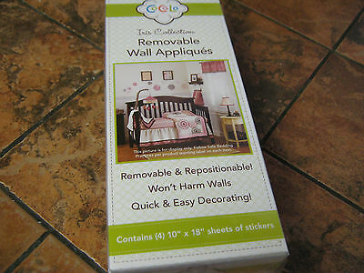 CoCaLo--Iris Collection-Removable Wall Appliques--4 sheets--New in package