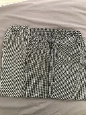 3x Chef Pants Global Chef + Comfort Uniforms Size Small