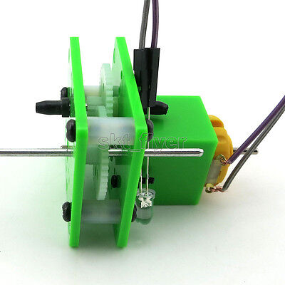 1pcs Hand-cranked Generator Experiment Electronics Hobby Toy Robotic Gifts