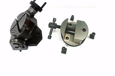 """set of round vice & 4"""" (100mm) Tilting rotary table milling metal,engineering"""