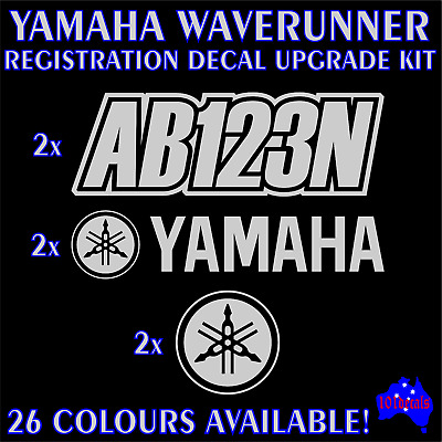 YAMAHA WAVERUNNER,JETSKI P.W.C marine registration numbers & decal sticker kit