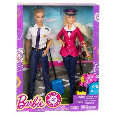 Barbie - Pink Passport: Piloten Barbie und Ken (CCY12)