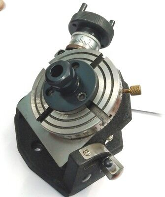 """3"""" Tilting rotary table with ER-20 collect adapter-milling,engineering tools"""