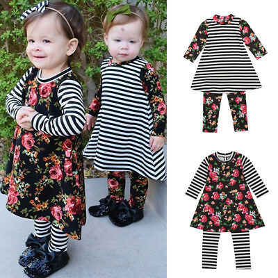 AU Stock Toddler Kids Baby Girl Outfits Clothes T-Shirt Tops+Pants Leggings Set