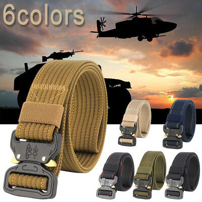 Men's Casual Outdoor Military Tactical Polyester Waistband Canvas Web Aemy Belt