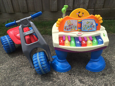Toddler Children Trike Bike and Fisher Price Piano Play Centre