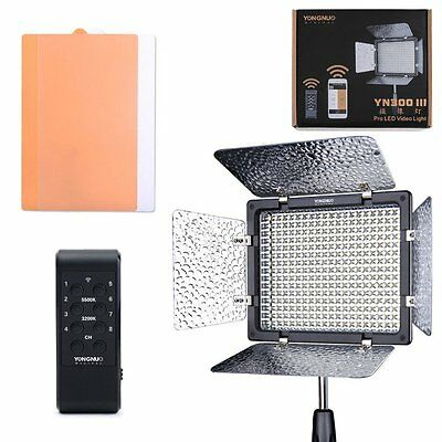 Yongnuo YN300 III Pro LED Video Studio Light 3200-5500K for Canon Nikon DV US