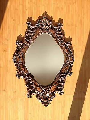 Antique Ornal Hanging Wood Wall Mirror