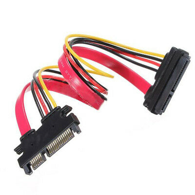 22 Pin 7 + 15 Male to Female Serial ATA SATA Data Power Combo Extension Cable