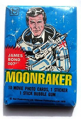Topps Cards James Bond Moonraker Unopened Pack 1979 Variant With Bazooka Gum Ad