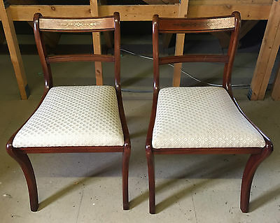 PAIR DINING CHAIRS reproduction Antique style