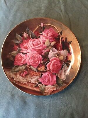 Franklin Mint  - Grace De Monaco Rose Plate By Katharine Austen, Signed
