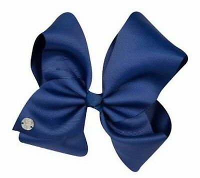 "AUTHENTIC 💙Jojo Siwa Signature LARGE Hair Bow 8"" Dance, Jo Jo NAVY BLUE"