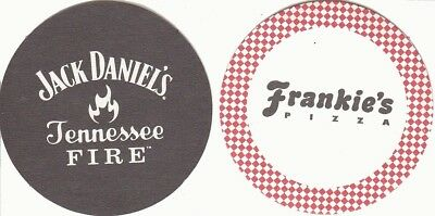 Jack Daniels Australian issued  Beer Coaster - Beer Mat - Tennessee Fire