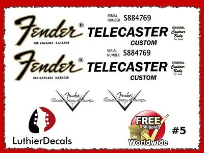 Guitar Decal Waterslide Headstock Restoration Logo #5