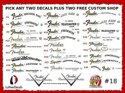 Fender Decal Waterslide Headstock Guitar Restoration Logo #18