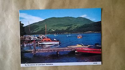 A postcard of by the shore of Loch Earn,Perthshire,Scotland.