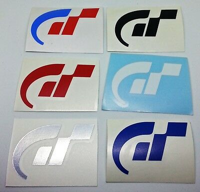 Gran Turismo GT Logo Sticker Vinyl Decal - NO PS PS2 PS3 PS4 or PSP Video Game