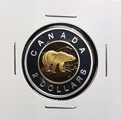 2007 Canada $2 Toonie Silver Gold Proof - Deep Cameo Uncirculated from mint set