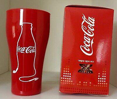 Coca Cola Red COLLECTIBLE Plastic Cup X-FACTOR ISRAEL