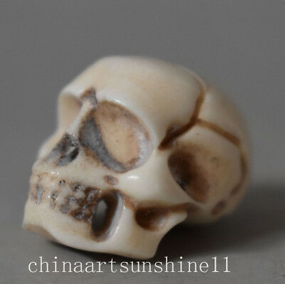 China Collection Skull Head Pendant Cow Bones Handmade Carved