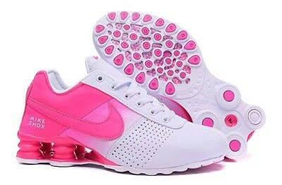 Hot New Women White & Pink Fade Nike NZ Shox Running Shoes