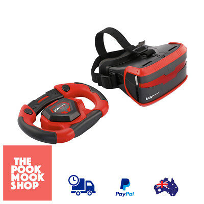 VR Real Life Racing Set, Mobile Gaming Race 3D Simulator Kids Game Toy Head Gear
