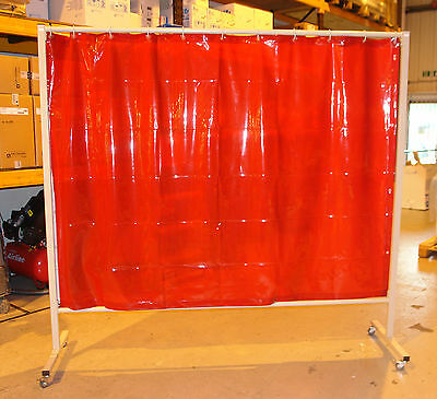 Cepro omnium orange Welding curtain and frame 215cm x 200cm