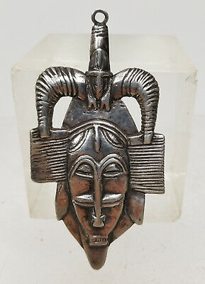 ANTIQUE VINTAGE HAND Made Sterling Silver African Tribal Pin Pendant - $300.00 | PicClick
