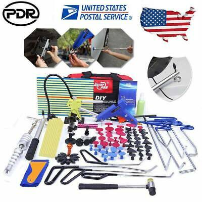110× PDR Rods Tools Paintless Dent Repair Puller Lifter Hail Rmeoval LED Light