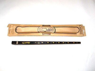 Handmade NEW Irish Penny Tin Whistle D Key Flute Boxed Whistles Wood Music Staff