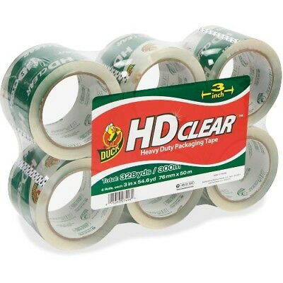 NEW Shurtech 307352 HD Clear Packaging Tape Duck 3in HiPerformPckgngTape6pk