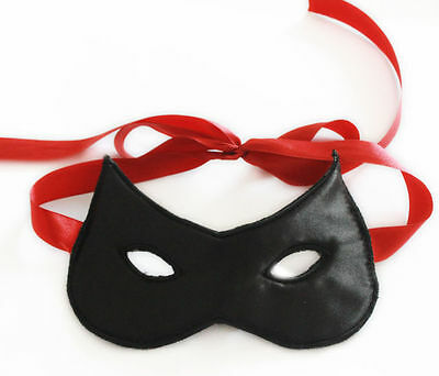 Black Wet Look Mask Bondage Restraints Fetish Gear adult costume fancy dress