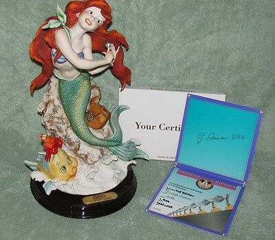 Giuseppe Armani Disney Ariel hand crafted sculpture rare limited ED COA