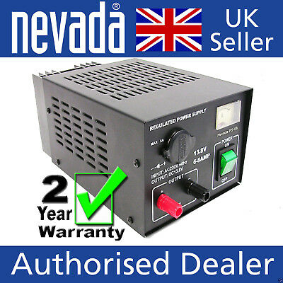 Nevada PS-08 Quality linear 6-8A supply with meter - 2 YEAR WARRANTY