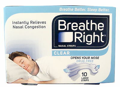 Breathe Right Nasal Strips 10 Large Clear