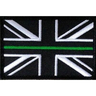 Thin Green Line Union Jack Hook & Loop Backed Patch SMALL First Responder Medic