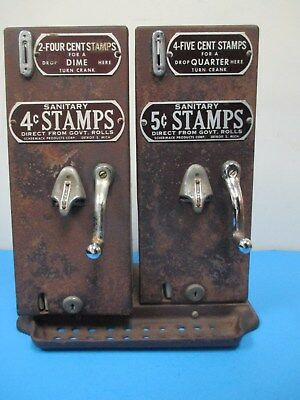 Vintage Schermark Double 4 And 5 Cent Stamp Vending Machine Model #25 & #31