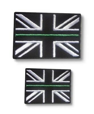 Thin Green Line Union Jack Hook & Loop Backed Patch SET First Responder Medic