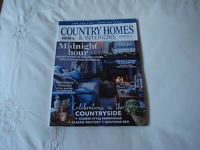 Country Homes & Interiors Magazine January 2018 In Perfect Clean Condition