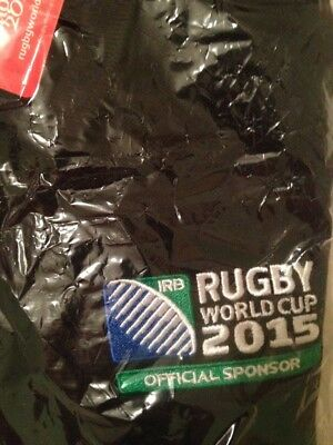 Coca Cola Rugby World Cup 2015 Black Polo Shirt - Brand New With Tags