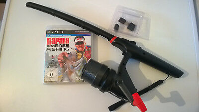 SONY PS3 wireless Angel Fishing Rod and Reel Controller + Rapala Pro Bass + USB