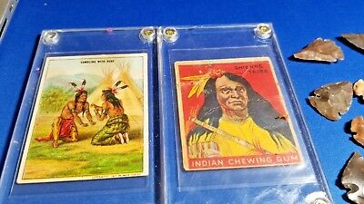 lot 24 arrowheads Indian Tobacco Gum cards Hassan Shienne Gambling Bone Goudey